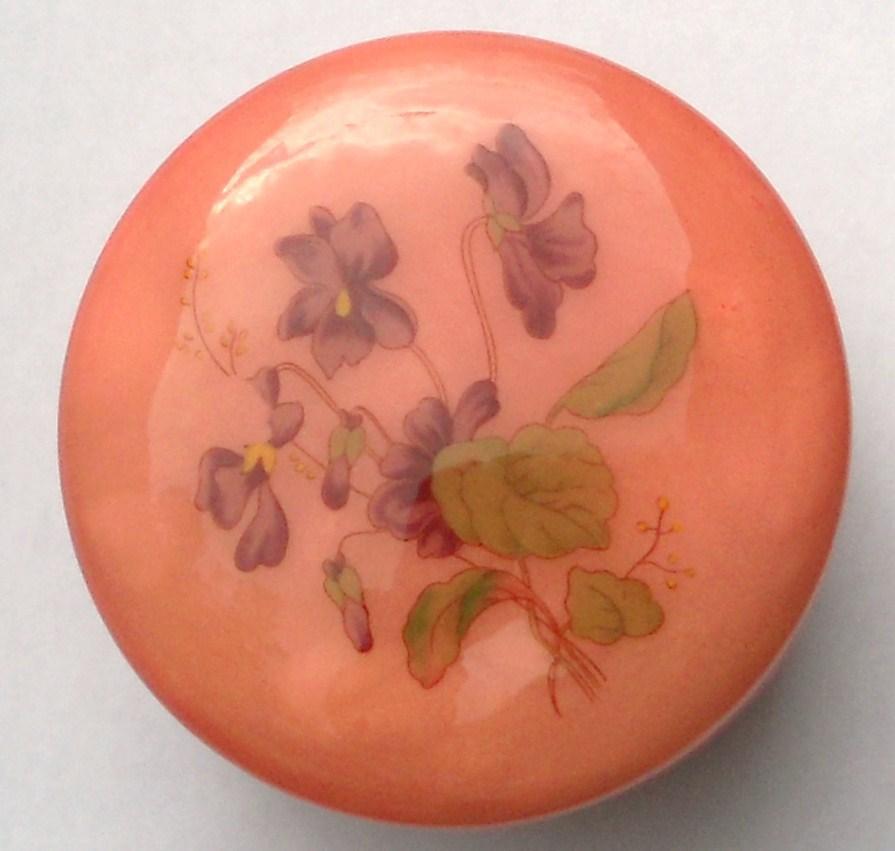 Image 5 of Genuine Alabaster Trinket box hinged dark pink floral Italy
