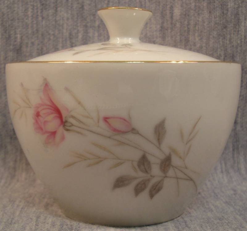 Sugar Bowl Camelot China American Rose 1655 Japan