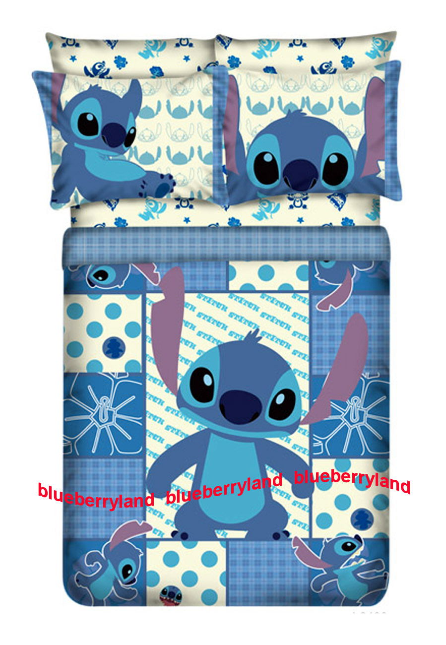 Disney Stitch Full Size Bedding Duvet Cover Fitted Sheet