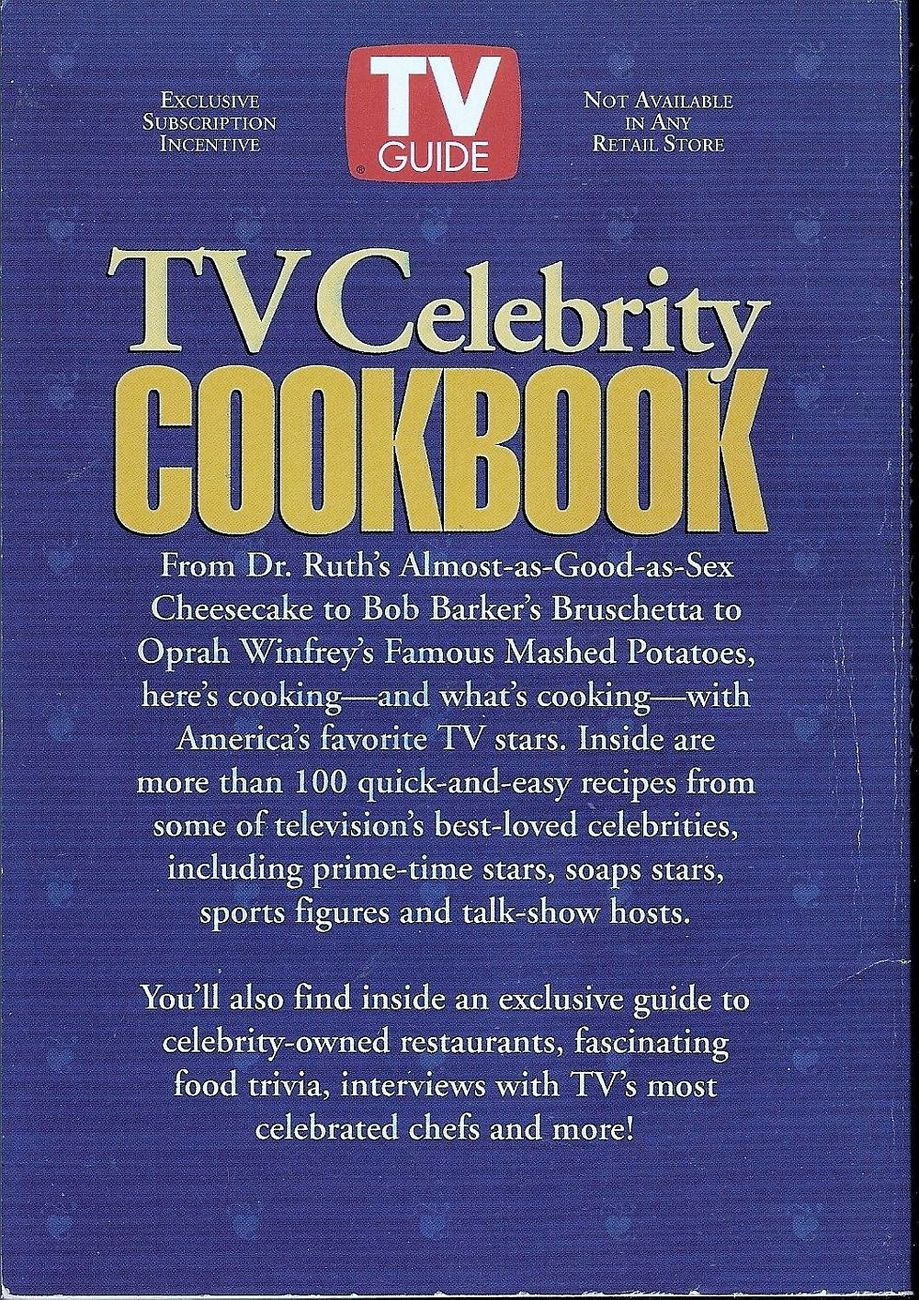 Image 1 of TV Guide Collector's Edition TV Celebrity Cookbook by Bill Brioux 1994