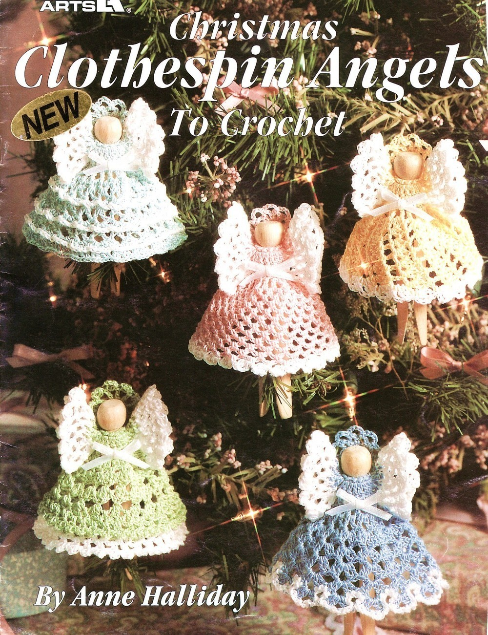 Free Crochet Patterns Clothespin Angels : Christmas Clothespin Angels Crochet Patterns Book ...