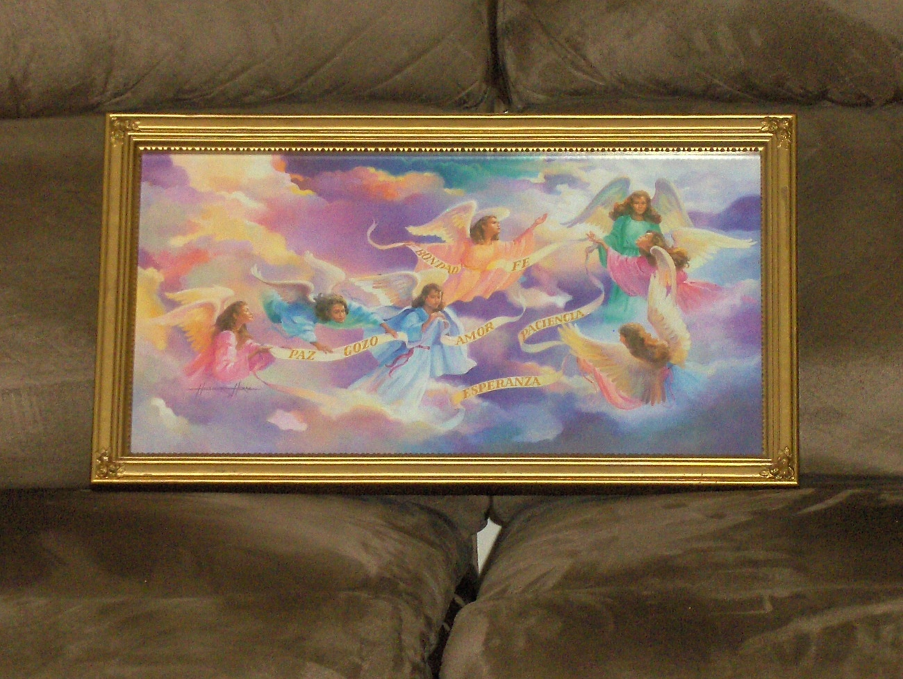 Angels Home Interior Heavenly Angels Wall Picture