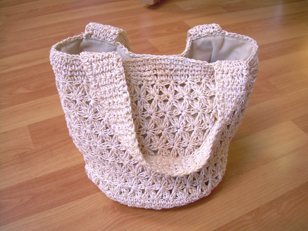 Soft Straw lace/crochet Handbag Natural color Very cute *FREE SHIP OFFER*