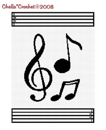 Crocheting Music : Musical Notes Music Afghan Crochet Pattern and 50 similar items