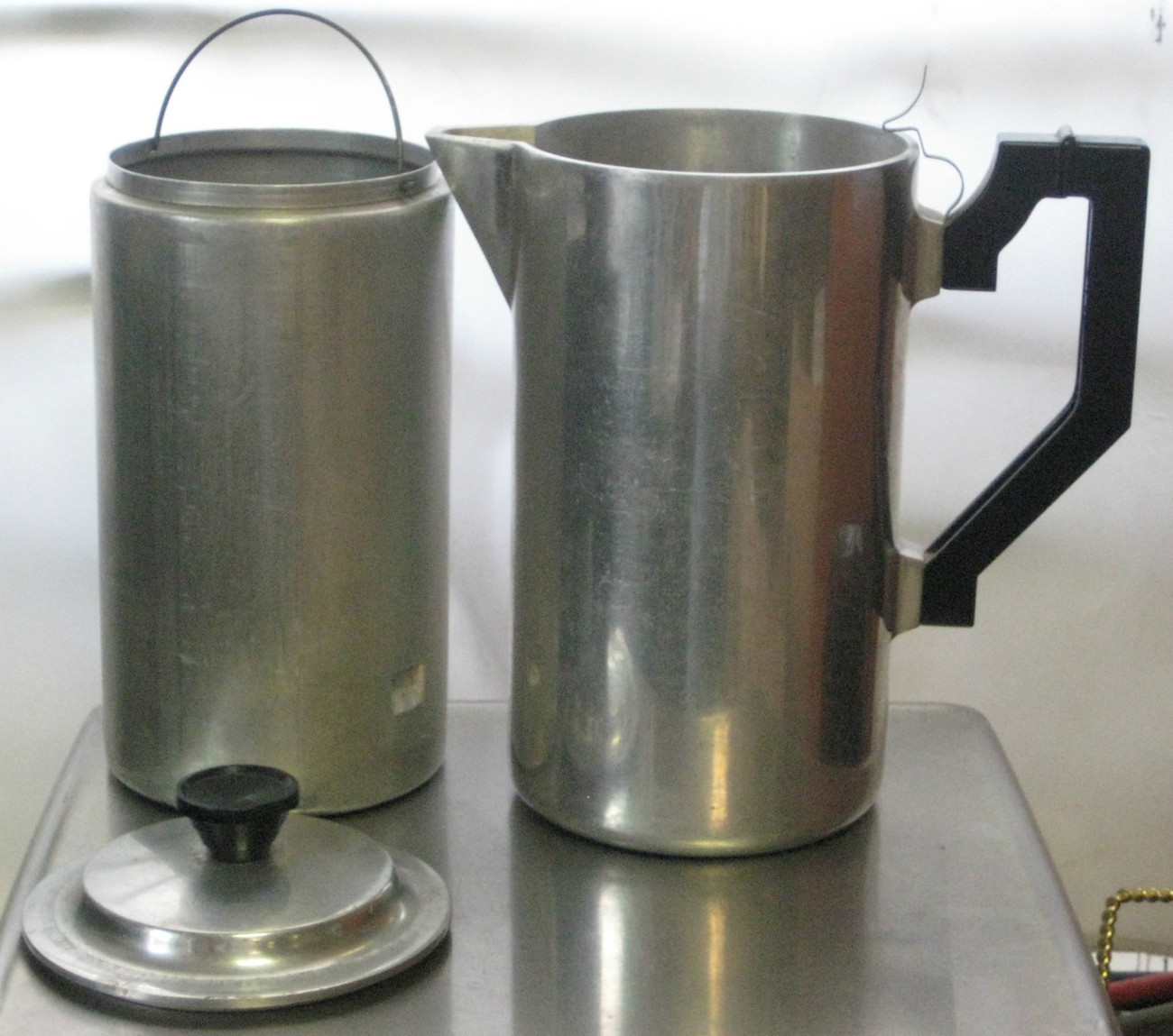 Vintage Aluminum Miracle Maid CAMPING COOKWARE Stove Top Coffee Maker Pot - Other