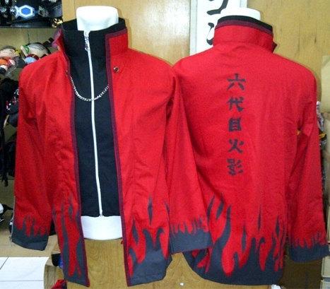 Naruto 4th Hokage Red Yondaime Minato Jacket - Outerwear  Naruto 4th Hoka...