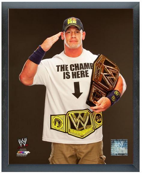 "John Cena with the WWE Championship Belt 2013 -11"" x 14 ...John Cena Wwe Champion 2013 Champ Is Here"
