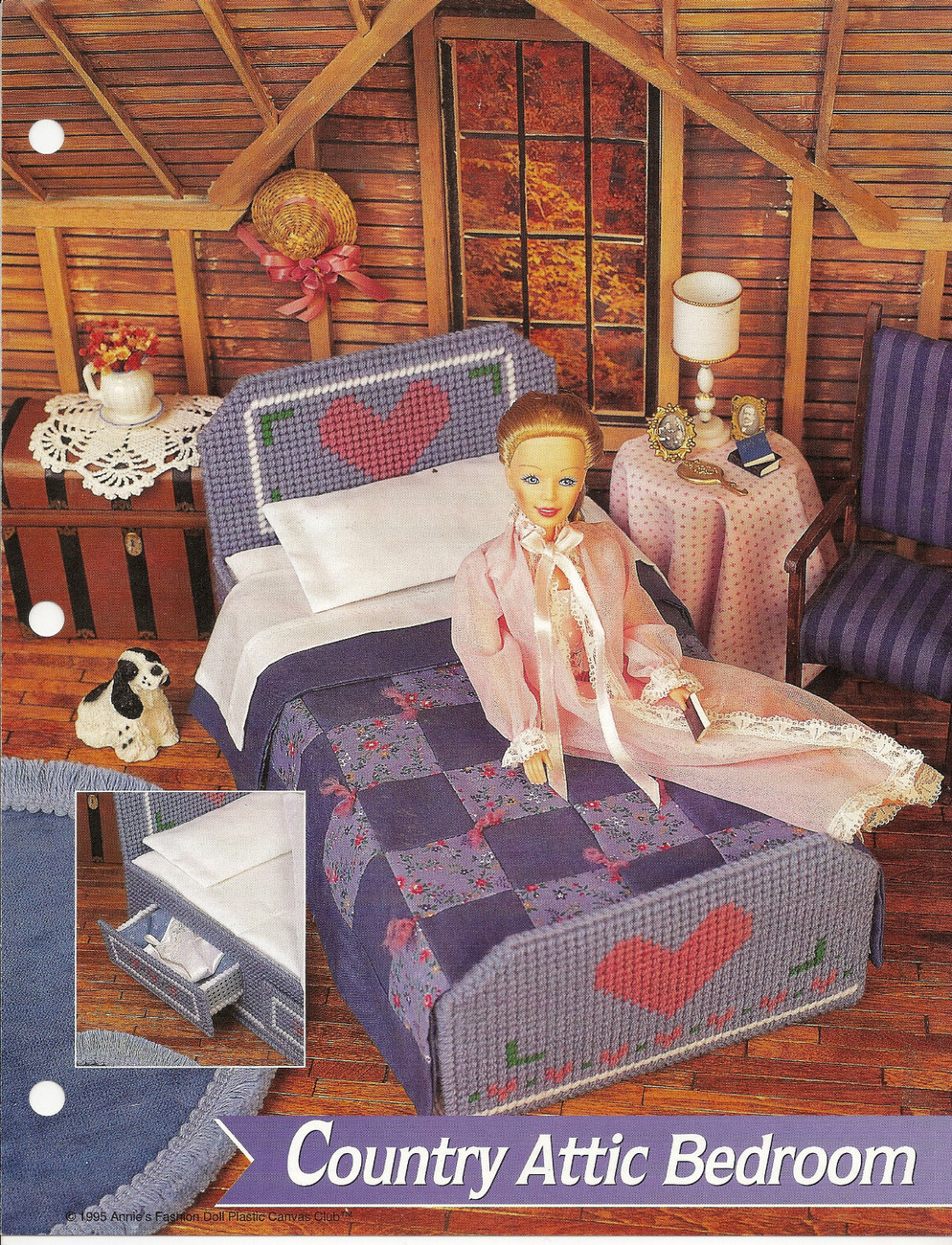 Annies Attic Patterns : Attic Bedroom Annies Attic Fashion Doll Plastic Canvas Club Pattern ...