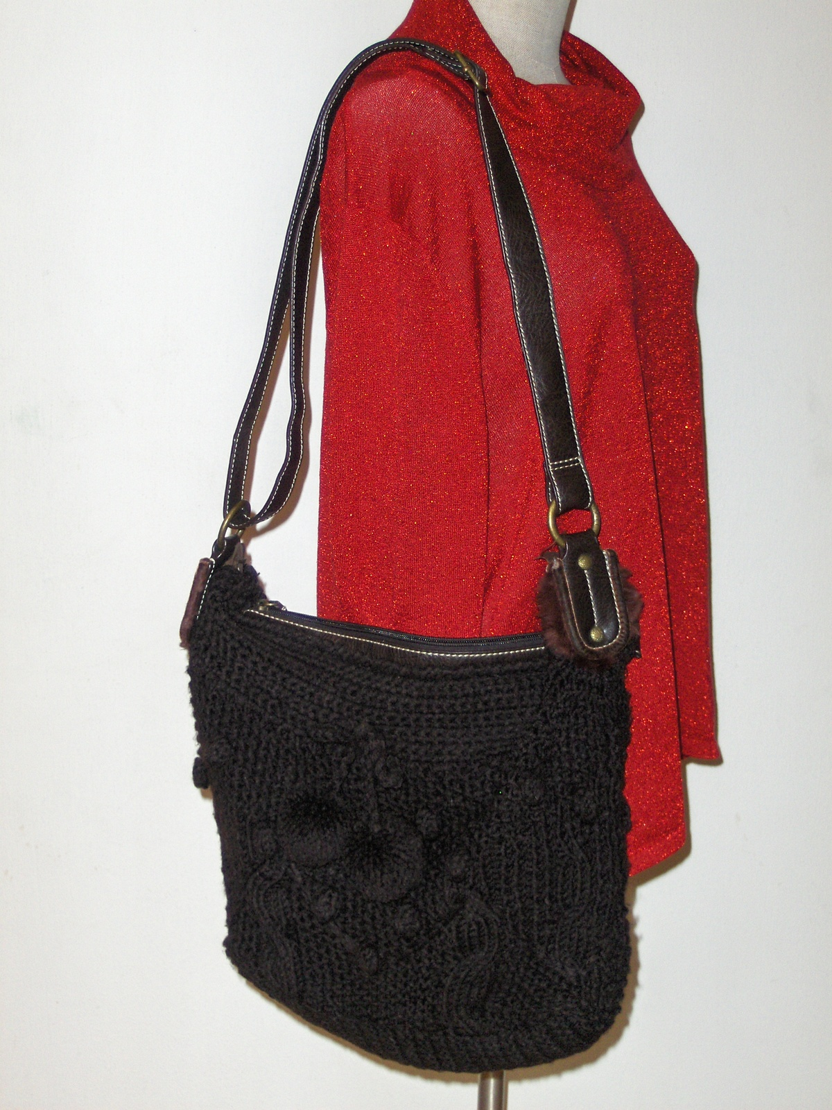 Luana Sweater Hobo Bag Crochet Shoulder Bag - Handbags & Purses