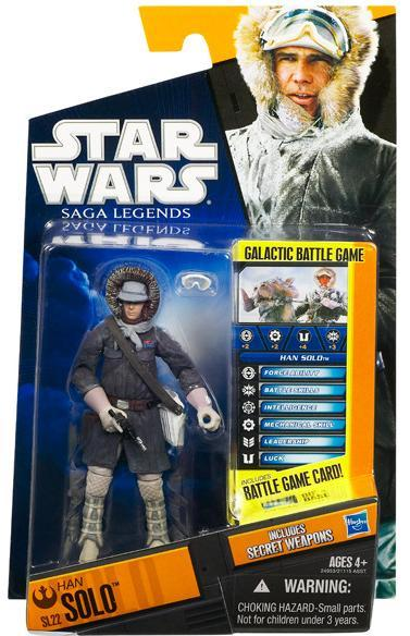 Star Wars Saga Legends Han Solo Hoth Gear SL22 Empire Strikes Back