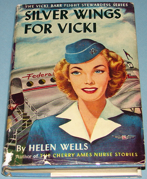 Vicki Barr #1 Silver Wings for Vicki 1947 Early DJ