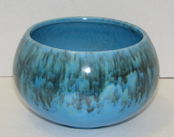 Vintage Jenkins Ceramics J-41 Blue Drip Bowl Planter California Pottery