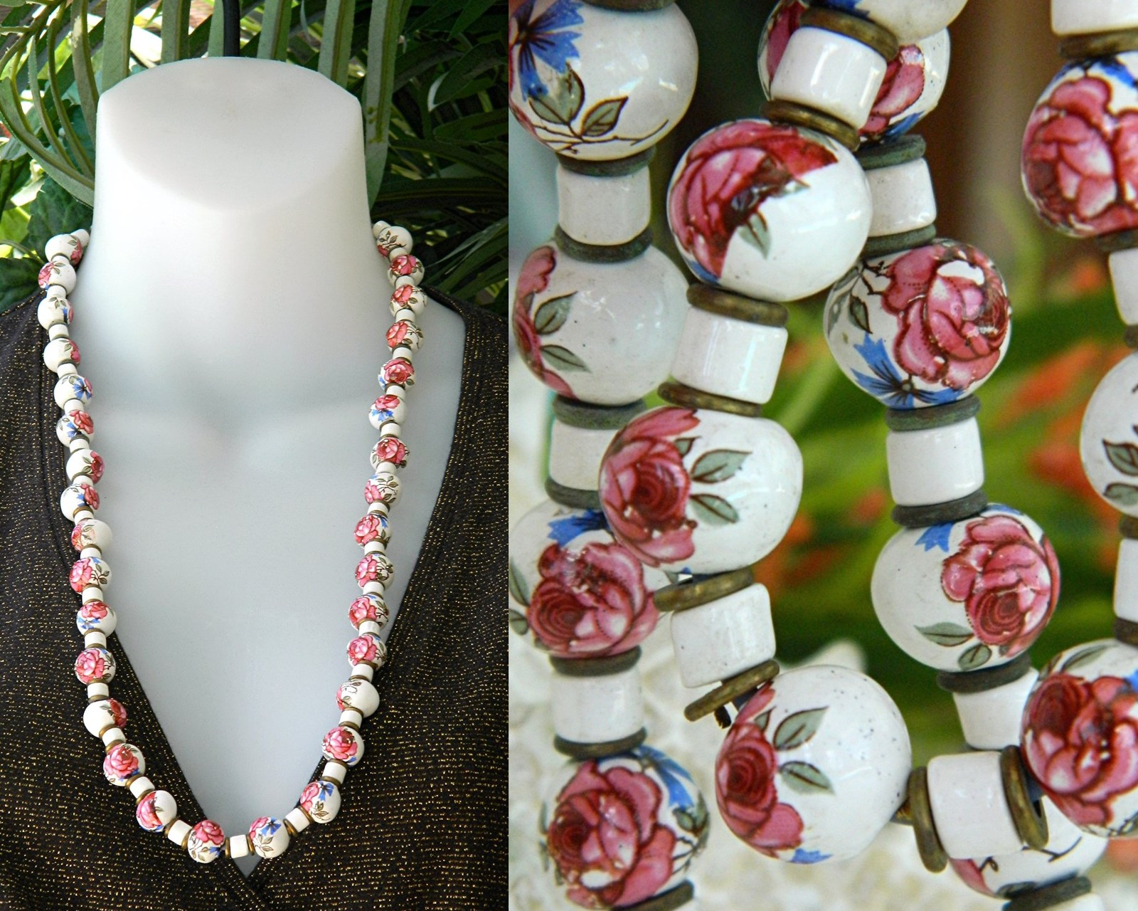 Vintage_hand_painted_porcelain_ceramic_bead_necklace_roses