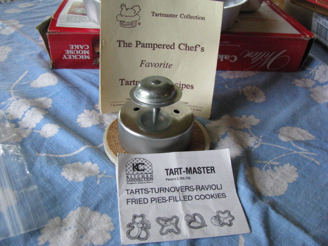 Vintage Tart Master Tartmaster Collection Pampered Chef Reci