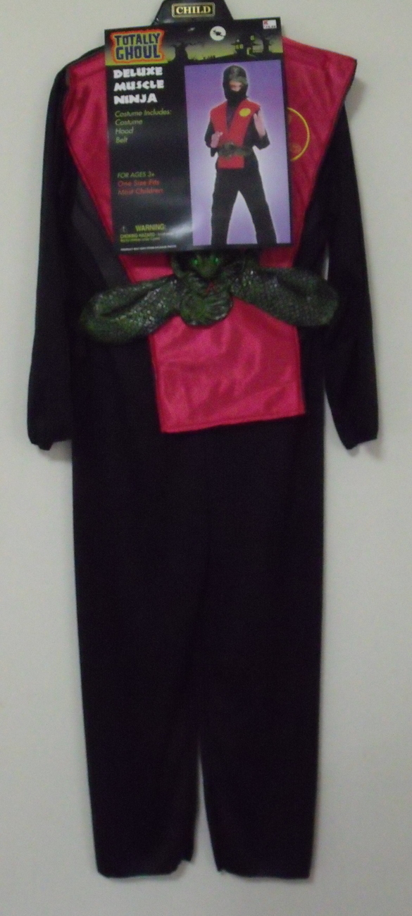New Halloween Totally Ghoul Boys Muscle Ninja Costume Size M