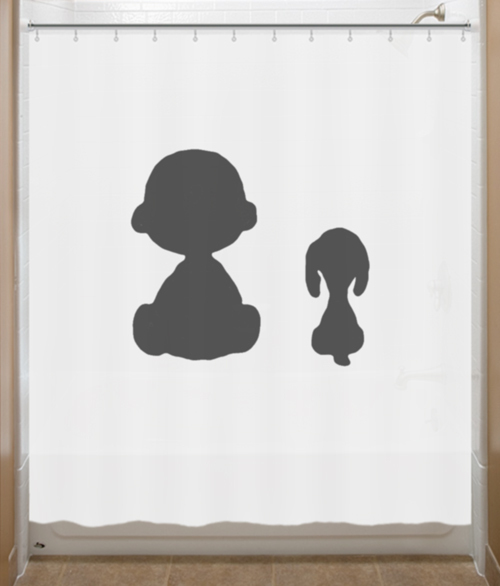 Charlie Brown Shower Curtain Snoopy Peanuts - Home & Garden