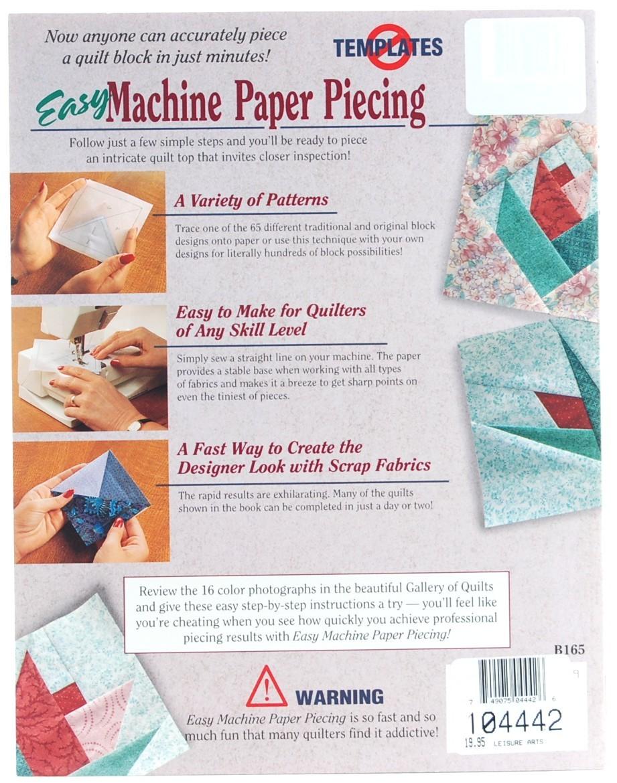 paper piecing by machine