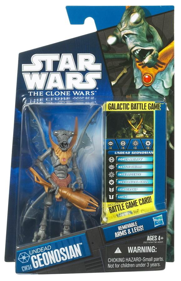 Star Wars Undead Geonosian CW34 The Clone Wars figure 2010