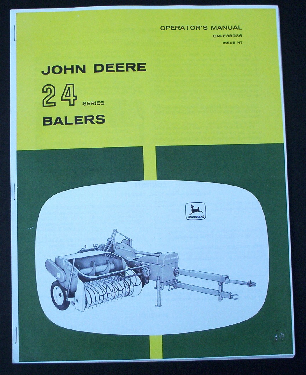John Deere 24 Series Baler Operators Manual 24t 24ws