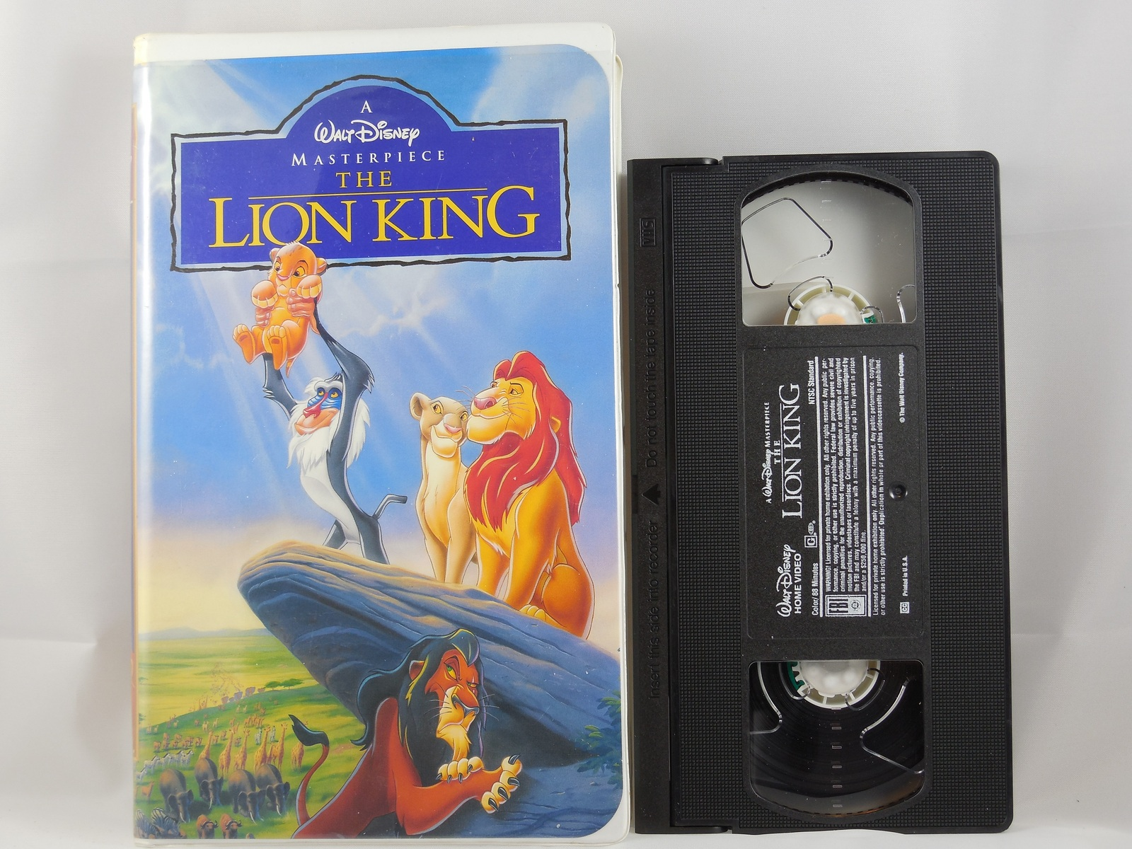 the lion king vhs 1994 disney animation