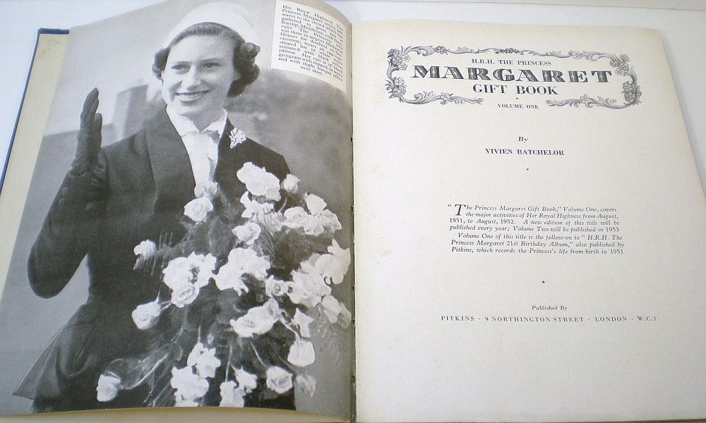 H.R.H. The Princess Margaret Gift Book Vol 1 by Vivien Batchelor 1952