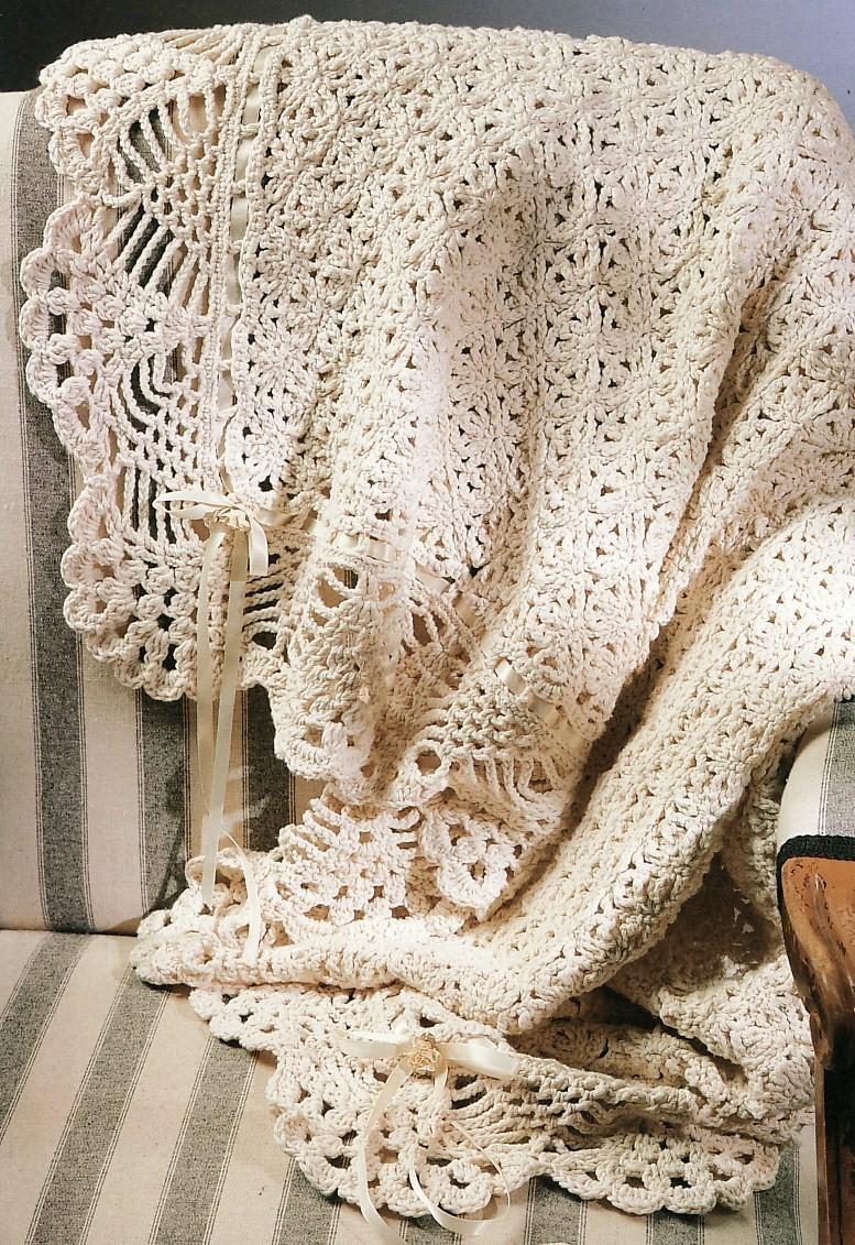 Free Victorian Lace Crochet Patterns : Victorian Elegance Afghan Crochet Pattern Lace Blanket ...