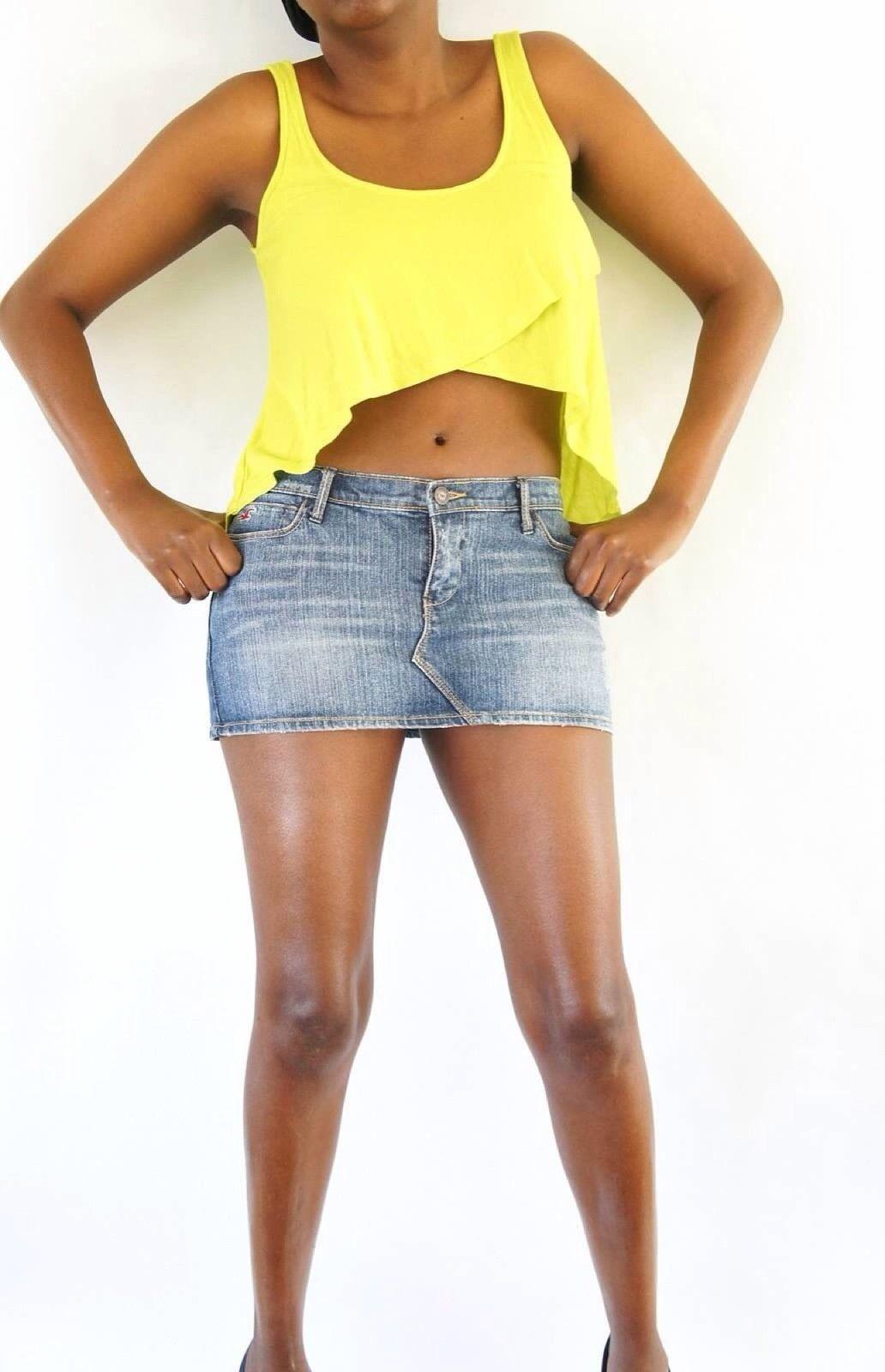 hollister denim skirt size 5 micro mini skirts