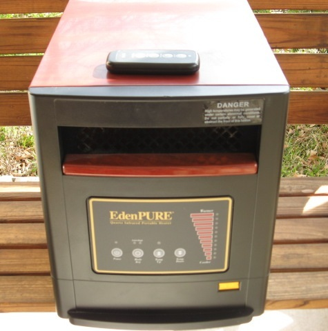 Edenpure A4428 Gen4 Portable Rolling Infrared Space Heater with Remote Control