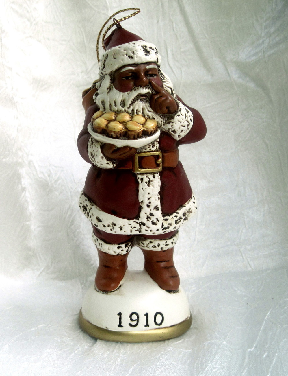 Christmas reproductions black santa claus figurine
