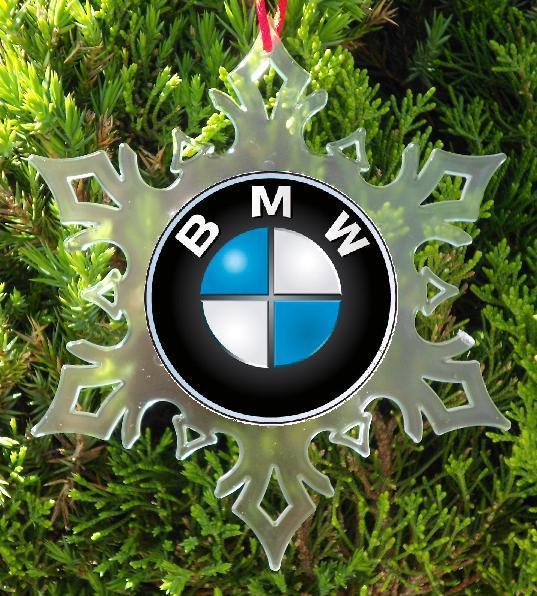BMW CAR CHRISTMAS ORNAMENT - SNOWFLAKE XMAS ORNAMENT ...
