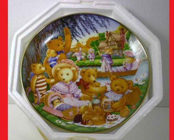 Teddy Bear Picnic Franklin Mint decorative plate 1991