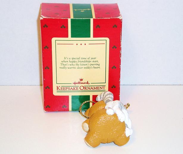 Image 2 of Purrfect Snuggle Hallmark Keepsake Ornament  bear cat 1988