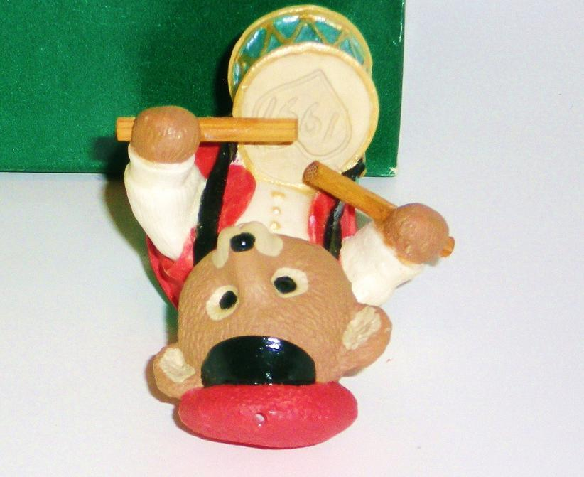 Image 2 of Fanfare Bear Hallmark Keepsake Tender Touches drummer 1991