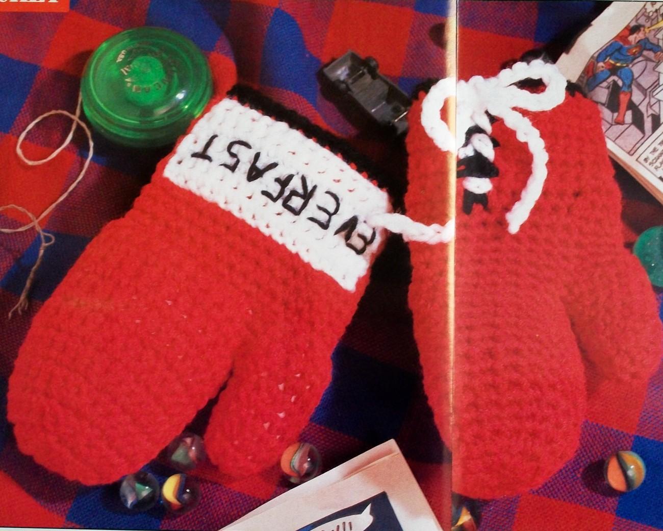 Boxing Glove Mittens Mitts + Matching Boxing Glove Key ...