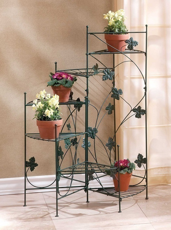 Metal Plant Stand Holds 6 Flower Pots Planters Plant Stands