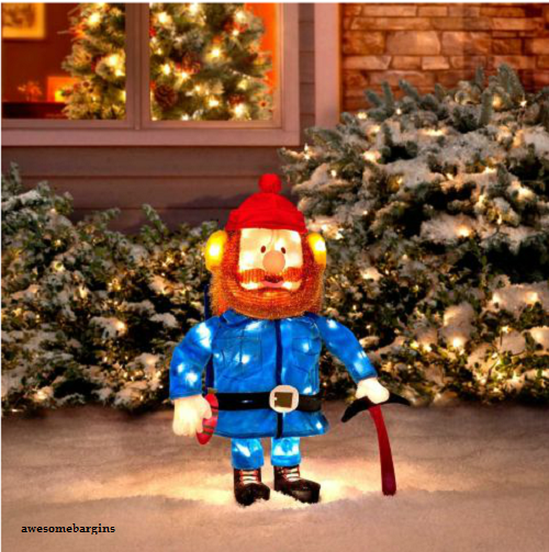 RUDOLPH & FRIENDS YUKON CORNELIUS CHRISTMAS LIGHTED DECOR DECORATION OUTDOOR