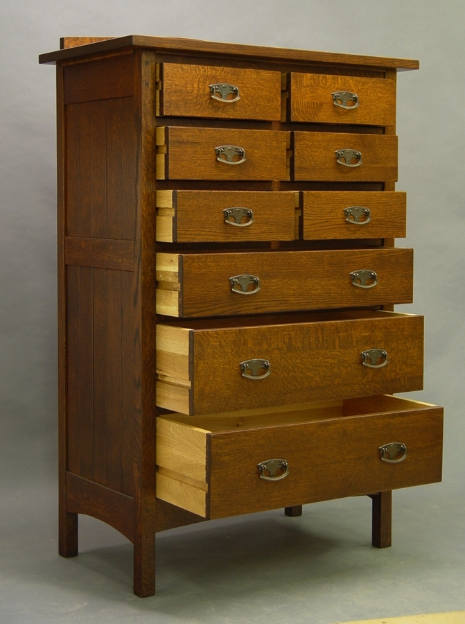 Mission 9 drawer tall chest of drawers dressers chests of drawers - Tall bedroom dressers ...