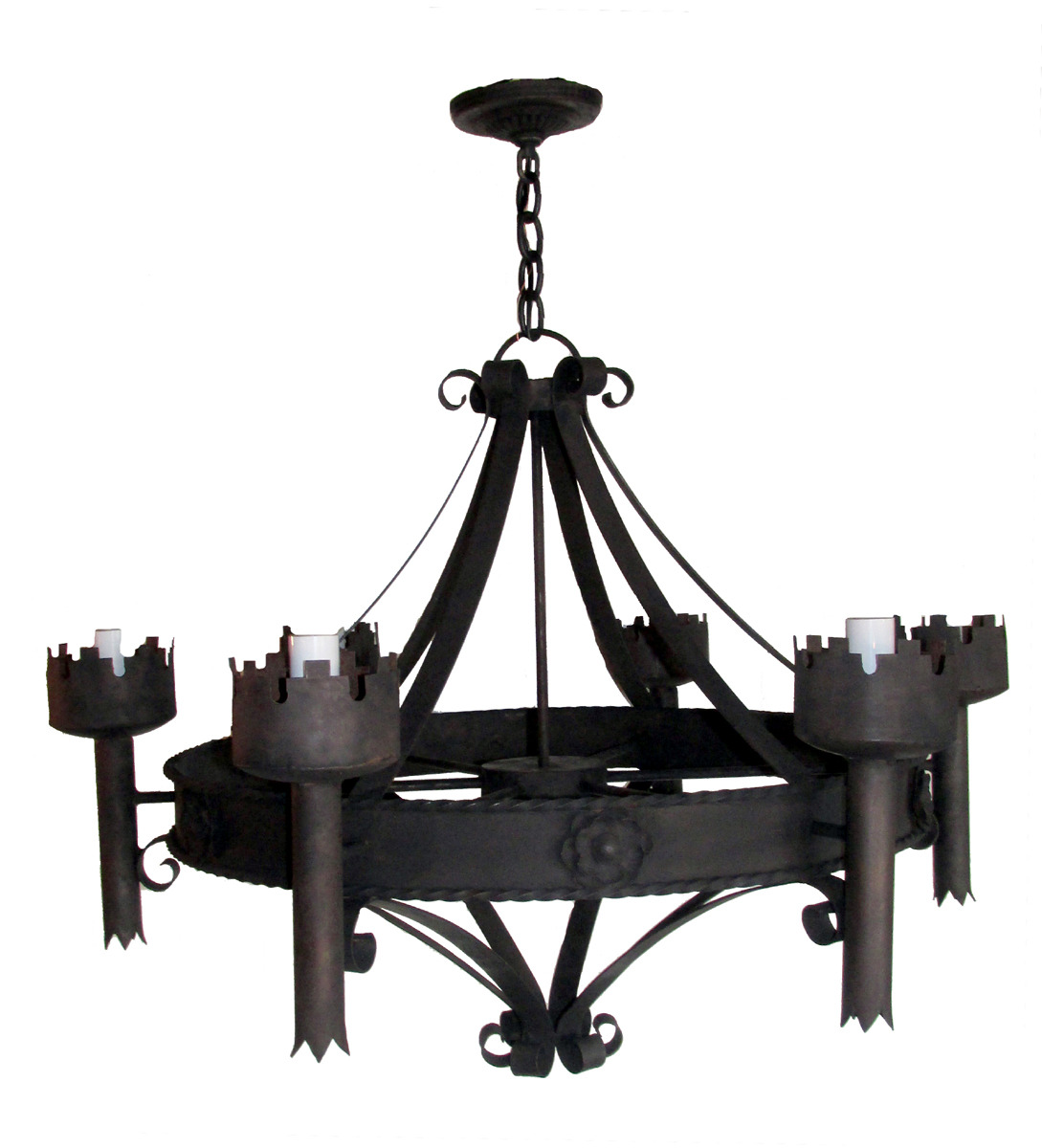 Wonderful image of wrought iron six candle chandelier wrought iron six candle chandelier  with #6E5D5F color and 1089x1200 pixels