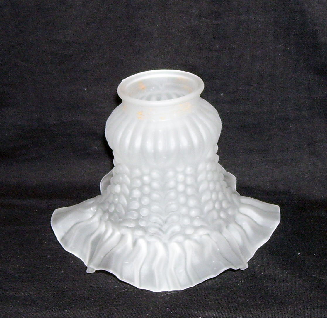 Ruffled Frosted Glass Replacement Lamp Shade