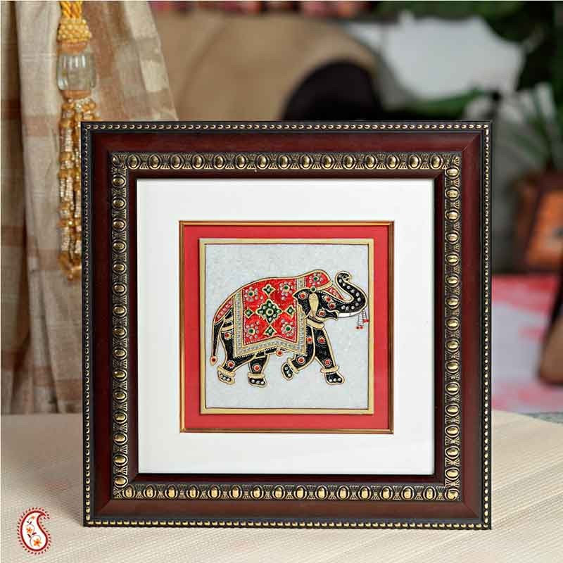 Painted Elephant Background Aapno Rajasthan Hand Painted Elephant Hanging And 50 Similar Items