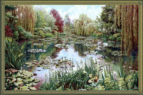 83x138 Monet LAKE GIVERNY Tapestry Art Wall Hanging