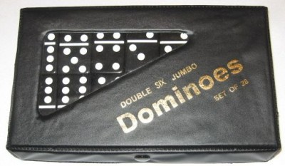 dominoes dominos New Jumbo Double Six 6 Dominoes Black