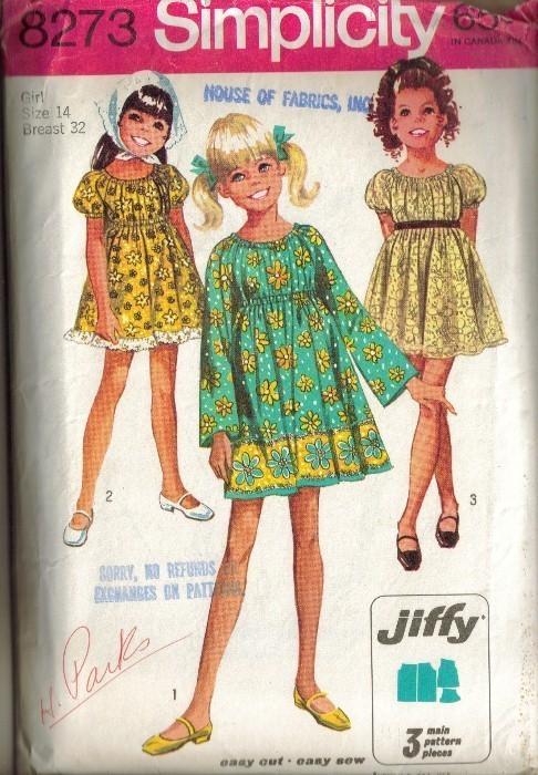 vintage 1969 simplicity 8273 s jiffy dress sz 14