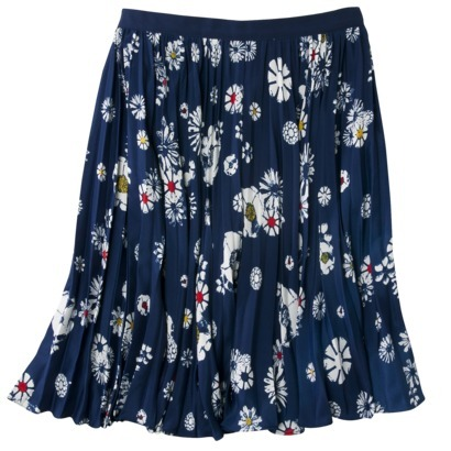 new jason wu for target womens navy blue floral pleated