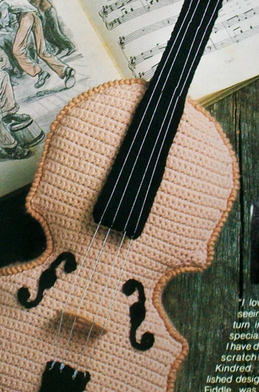 Amigurumi Doughnut Pattern : Crochet Fiddle Violin Musical Instrument, Crochet Pattern ...