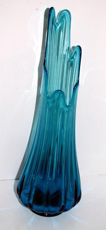 Mid Century Viking Glass Swung Floor Vase North American