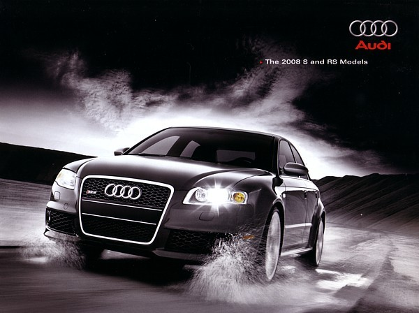 2008 Audi S4 S5 S6 S8 RS4 sales brochure catalog US 08 RS 4