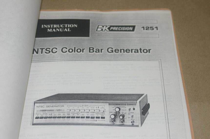 Color Bar Generator : Bk precision ntsc color bar generator and similar