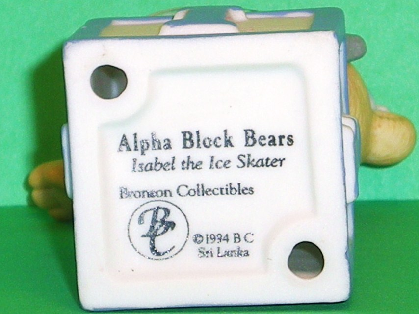 Image 4 of Alpha Block Bears Bronson Collectibles block I 1994