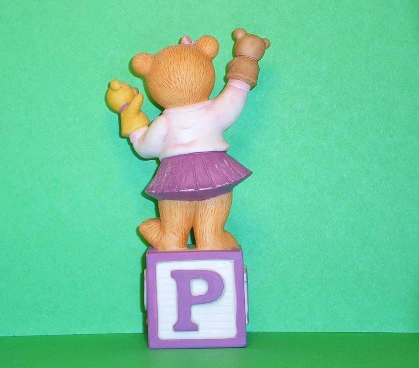 Image 2 of Alpha Block Bears Bronson Collectibles block P 1993